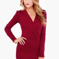 Foreign Film Burgundy Dress