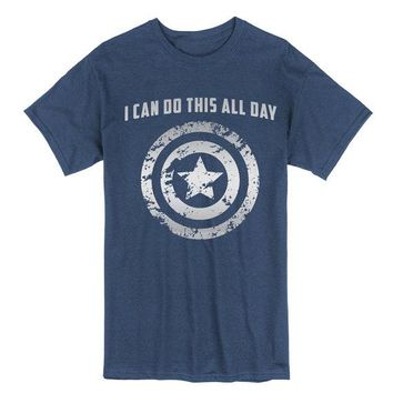 Adult, Captain America: I Can Do This All Day, Unisex, shirt, shield, American super hero, Comic Book, Geek Gift, Comic Nerd, Marvel Comics