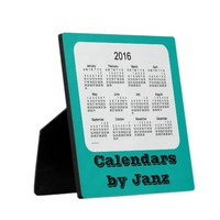 2016 Persian Green Desk Calendar by Janz Display Plaque