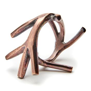 Twig Bracelet Napkin ring - Set of 4 Bronze