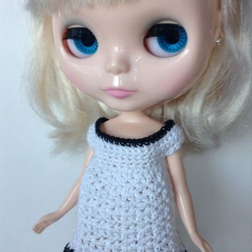 Neo Blythe Crochet Dress, Makies Dress, Crochet Doll Dress, Crochet Doll Clothes