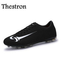 Thestron Women Soccer Cleats Cheap Mens Football Boots Green/Black Soccer Shoes Football Boys Football Shoes Soccer