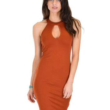 Lyss Loo Essential Spice Rust Bodycon Dress