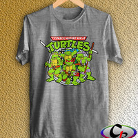Teenage Mutant Ninja Turtles Shirt Unisex Sport Gray Ninja Turtles Tshirt More Size Available