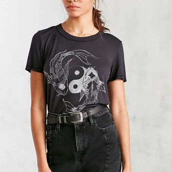 Truly Madly Deeply Yin-Yang Koi Tee - Urban Outfitters