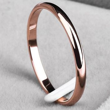 Timeless Titanium Steel Rose-Gold Band