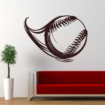 Wall decal decor decals art ball game rugby football flight volleyball (m680)