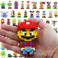 LOZ Diamond Building Blocks Avengers Mario Spongebob Mickey 3D Bricks Toy All 94 Models