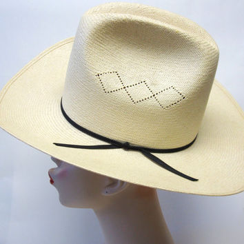 Resistol Self Conforming Straw Cowboy Hat