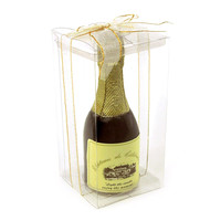 Scented Candle Favors, 5-inch, Champagne Bottle, Black
