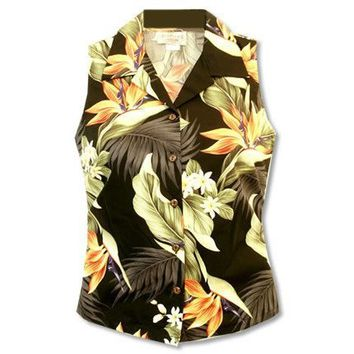rainforest hawaiian sleeveless blouse