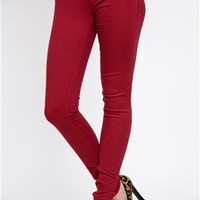 Cherry Skinny Jeans- Colored Skinny Jeans- $59.99