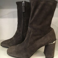 Prada Brown Suede Booties