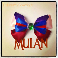 Mulan Inspired Disney Hair Bow by ToInfinityBowtique on Etsy