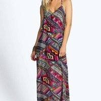 Kerry Printed Strappy Woven Maxi Dress