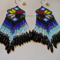 Native American Style 7 Directions Morning Star loomed earrings