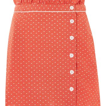 Spot Ruffle Mini Skirt - New In Fashion - New In