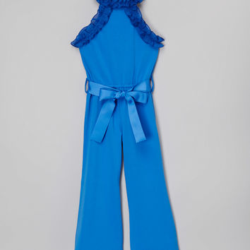Blossom Couture Royal Blue Jumpsuit - Infant, Toddler & Girls | zulily