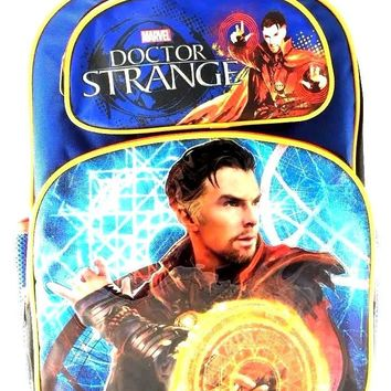 "Marvel Doctor Strange 16"" Canvas Blue School Backpack"