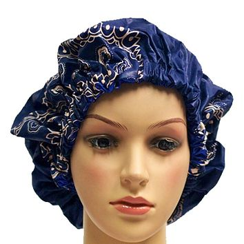 Navy Adult Ankara Bonnet