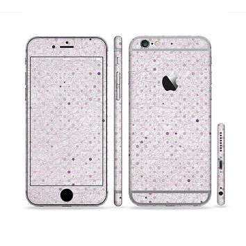 The Small Pink Polkadotted Surface Sectioned Skin Series for the Apple iPhone 6 Plus