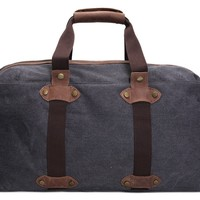 Waxed Canvas Holdall Duffle Travel Bag