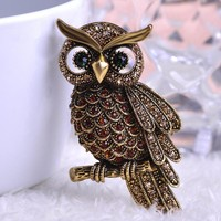 Brooches Big Owl wedding Bouquet vintage wedding Scarf Bijoux
