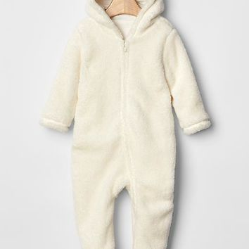 Gap Baby Sherpa Footed Bear One Piece
