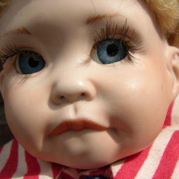 Vintage Collectible Handcrafted Porcelain Doll Joey by Cindy Marschner Rolfe 14""
