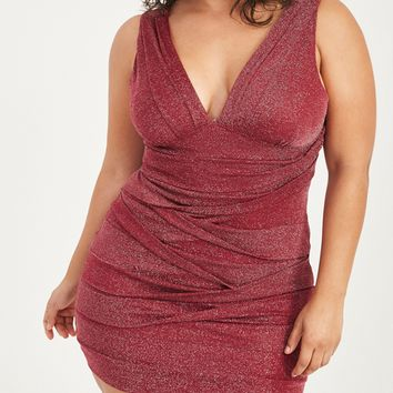 Plus Size Shimmer Tiered Bodycon Dress | Wet Seal Plus