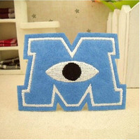 1 PCS Monsters Clothes Embroidered Iron on Patches for Clothing DIY Stripes Motif Appliques Garment Badge parches bordados