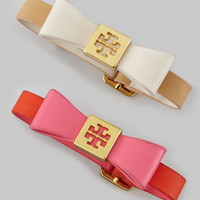 TORY BURCH - Leather Bow Bracelet