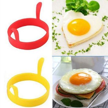 MDIGYN5 4Pcs Silicone Round Egg Rings Pancake Mold Ring Handles Nonstick Fried Frying
