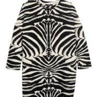 Zebra Sweatshirt Tunic from The Wild Orchid