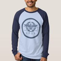 SPQR The Roman Empire Emblem Long Sleeve Shirt