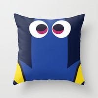 PIXAR CHARACTER POSTER - Dory - Finding Nemo Throw Pillow by Marco Calignano | Society6