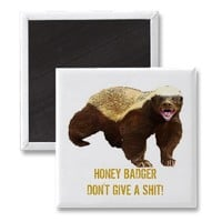 HONEY BADGER Magnet from Zazzle.com
