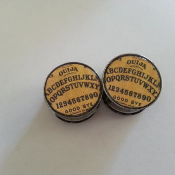 Ouija Board Plugs 2g 6mm - 1 inch 25mm