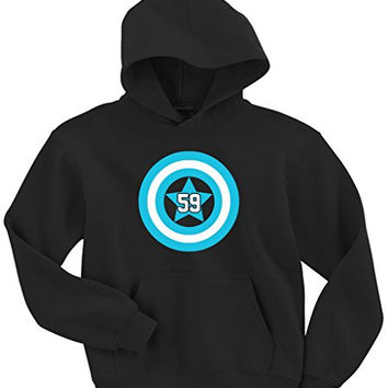 "Luke Kuechly Carolina Panthers ""Captain America"" Hooded Sweatshirt ADULT 5XL"