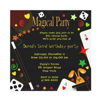 Kids birthday invitation 043 Magical Party from Zazzle.com