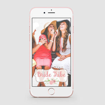 INSTANT DOWNLOAD Snapchat Geofilter | Bachelorette Geofilter | Bachelorette Party Snapchat | Party | Floral