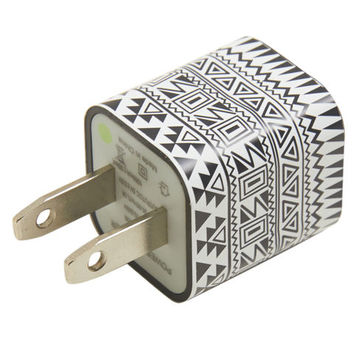 Printed USB Wall Charger   Wet Seal