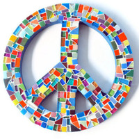 Multicolored Mosaic Peace Sign