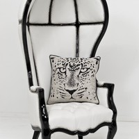 www.roomservicestore.com - Balloon Chair in Cream Lizard Faux Leather