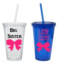 Big Sister Tumblers , Little Sister Tumbler, Big And Little Tumblers, Sorority Sister Tumblers