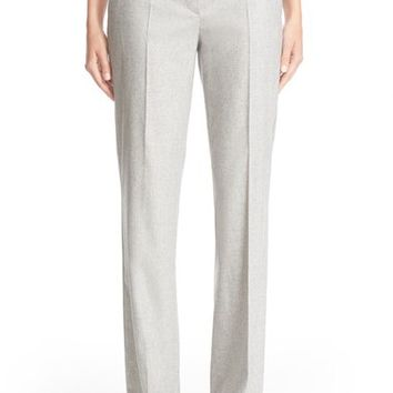 Max Mara 'Polis' Stretch Wool & Cashmere Flannel Pants | Nordstrom