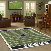 Dallas Cowboys NFL Football Field Rug