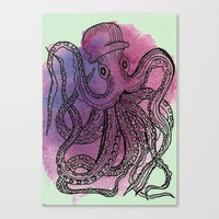 Octopus I Stretched Canvas by Lea B