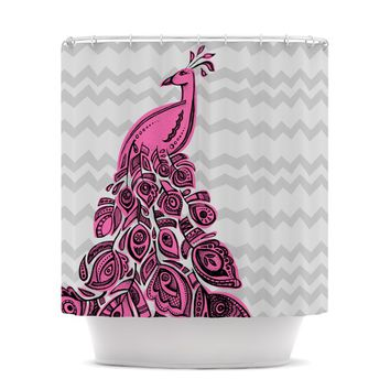 "Brienne Jepkema ""Peacock Pink"" Shower Curtain"