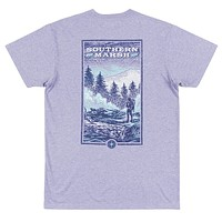 Relax and Explore - Trail Tee in Washed Berry by Southern Marsh